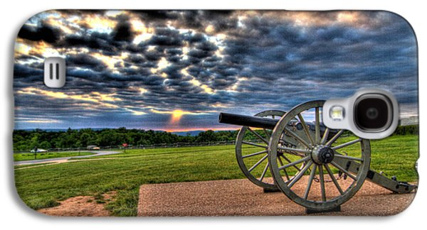 Fire Clouds Over A Gettysburg Cannon Galaxy S4 Case by Andres Leon
