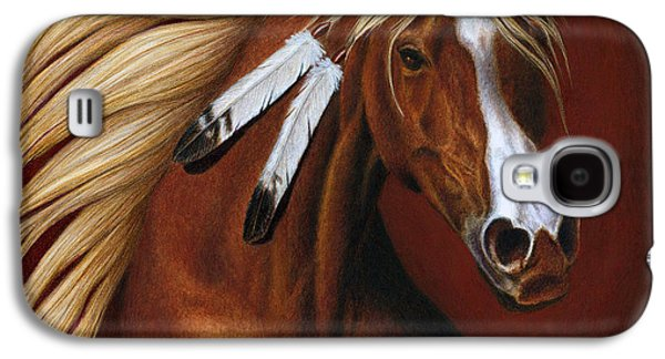 Colored Pencil Paintings Galaxy S4 Cases - Fire Dance Galaxy S4 Case by Pat Erickson