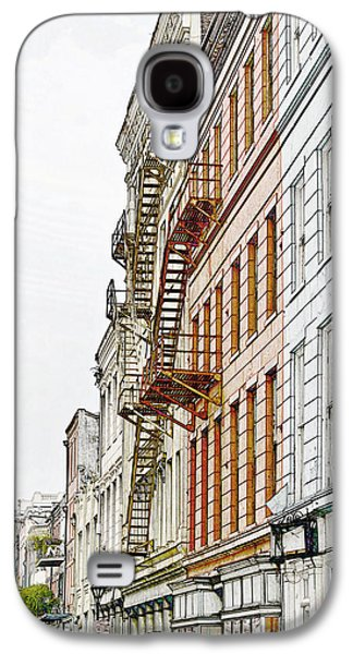 Construction Galaxy S4 Cases - Fire Escapes New Orleans Galaxy S4 Case by Christine Till