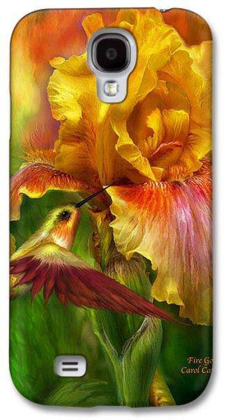Flora Mixed Media Galaxy S4 Cases - Fire Goddess Galaxy S4 Case by Carol Cavalaris
