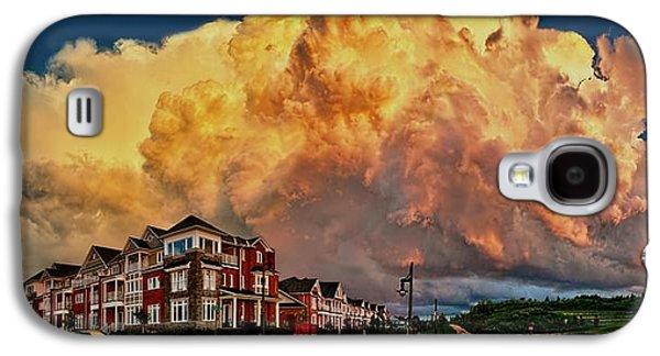 Turbulent Skies Digital Art Galaxy S4 Cases - Fire in the Sky Galaxy S4 Case by Jeff S PhotoArt