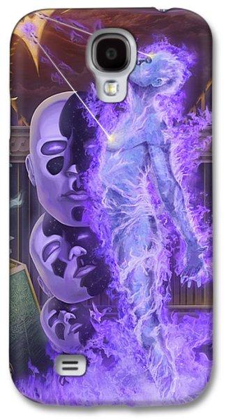 Inner Self Digital Art Galaxy S4 Cases - Fire Galaxy S4 Case by Izan Vazquez