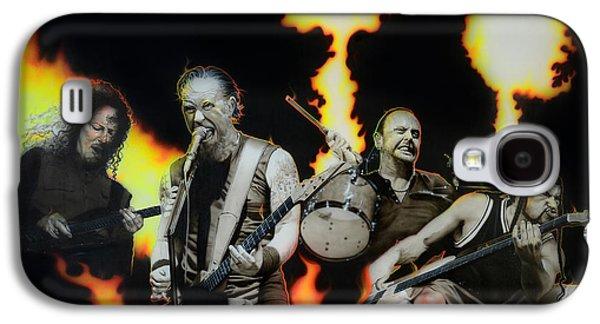 Metallica Galaxy S4 Cases - Fire Rain on Me Galaxy S4 Case by Christian Chapman Art