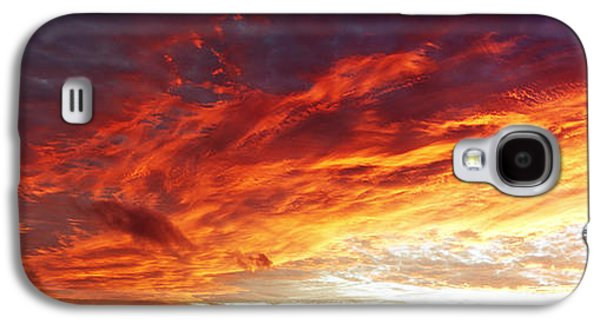 Sunset Abstract Galaxy S4 Cases - Fire sky  Galaxy S4 Case by Les Cunliffe
