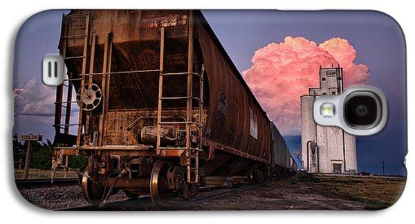 Nebraska. Galaxy S4 Cases - Fire Train Galaxy S4 Case by Thomas Zimmerman