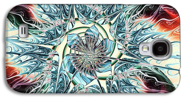 Symmetrical Galaxy S4 Cases - Fire Vs Ice Galaxy S4 Case by Anastasiya Malakhova