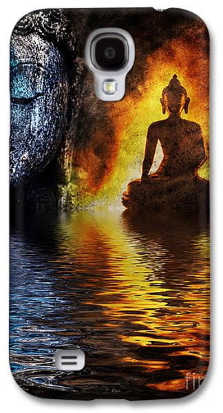 Thoughtful Photographs Galaxy S4 Cases - Fire water Buddha Galaxy S4 Case by Tim Gainey