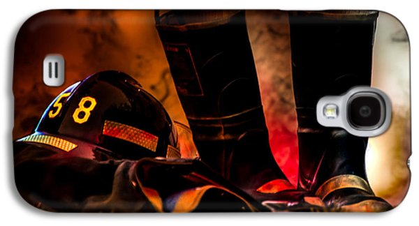 Courage Galaxy S4 Cases - Firefighter Galaxy S4 Case by Bob Orsillo