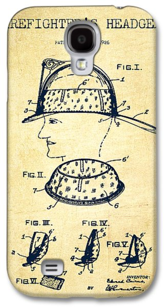 Gear Digital Galaxy S4 Cases - Firefighter Headgear Patent drawing from 1926 - Vintage Galaxy S4 Case by Aged Pixel