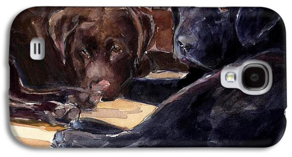 Chocolate Labrador Retriever Galaxy S4 Cases - Firelight Galaxy S4 Case by Molly Poole