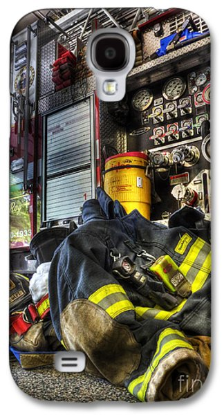 Sale Galaxy S4 Cases - Fireman - Always Ready for Duty Galaxy S4 Case by Lee Dos Santos
