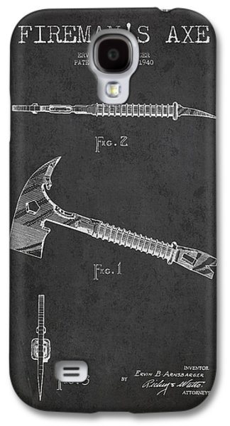 Gear Galaxy S4 Cases - Fireman Axe Patent drawing from 1940 Galaxy S4 Case by Aged Pixel