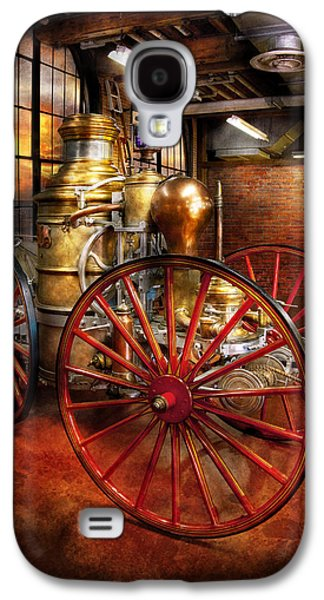Quaint Photographs Galaxy S4 Cases - Fireman - One day a long time ago  Galaxy S4 Case by Mike Savad