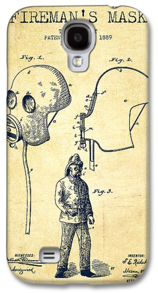 Gear Digital Galaxy S4 Cases - Firemans Mask Patent from 1889 - Vintage Galaxy S4 Case by Aged Pixel