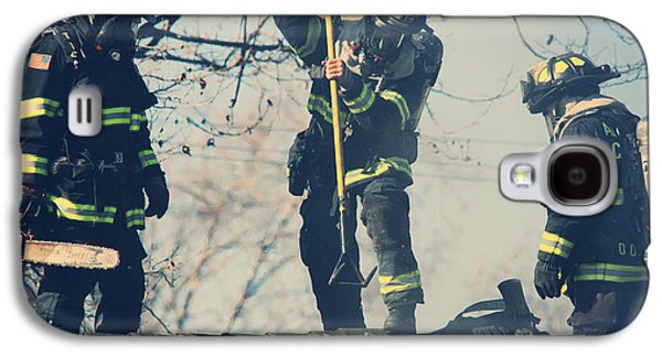 Candid Photographs Galaxy S4 Cases - Firemen Galaxy S4 Case by Laurie Search