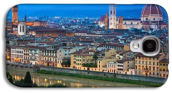 Tuscan Sunset Galaxy S4 Cases - Firenze by Night Galaxy S4 Case by Inge Johnsson