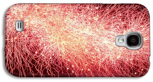 4th July Galaxy S4 Cases - Fireworks Abstract 8 Galaxy S4 Case by Kevin J Cooper Artwork