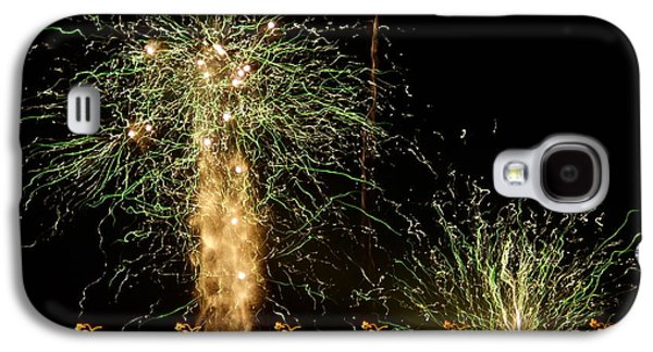 4th July Galaxy S4 Cases - Fireworks Abstract 1 Galaxy S4 Case by Kevin J Cooper Artwork