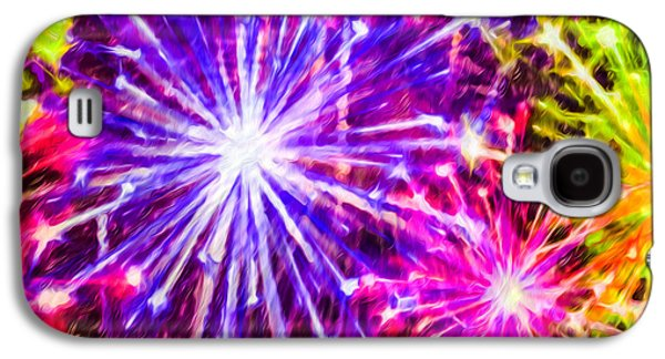 4th July Paintings Galaxy S4 Cases - Fireworks At Night 7 Galaxy S4 Case by Lanjee Chee