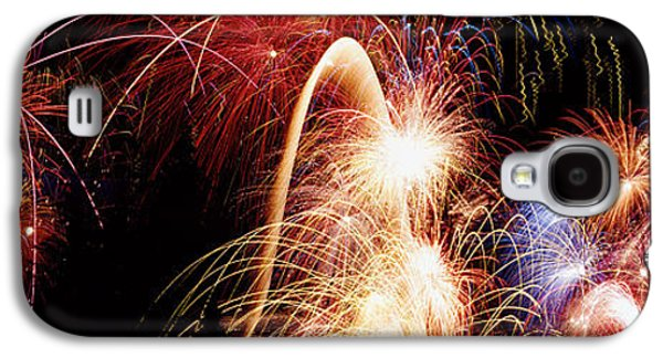 Pyrotechnics Galaxy S4 Cases - Fireworks Display, Banff, Alberta Galaxy S4 Case by Panoramic Images