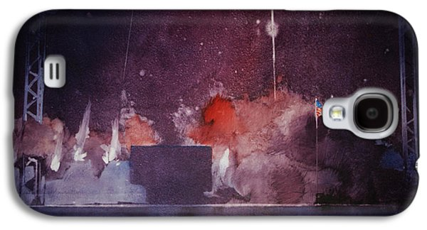 Baseball Stadiums Paintings Galaxy S4 Cases - Fireworks Galaxy S4 Case by George James