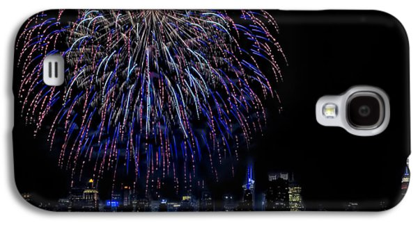 4th July Galaxy S4 Cases - Fireworks In New York City Galaxy S4 Case by Susan Candelario