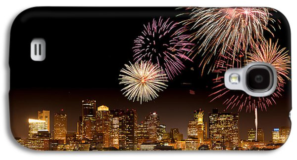Best Sellers -  - 4th July Galaxy S4 Cases - Fireworks over Boston Harbor Galaxy S4 Case by Susan Cole Kelly
