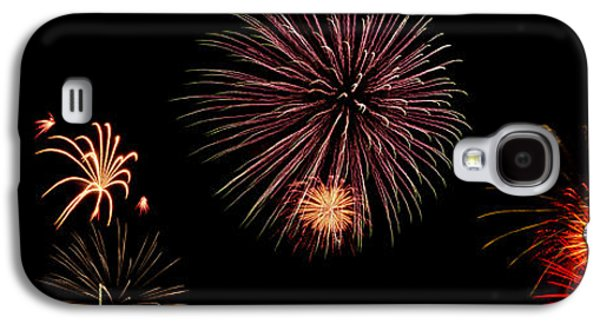 4th July Galaxy S4 Cases - Fireworks Panorama Galaxy S4 Case by Bill Cannon