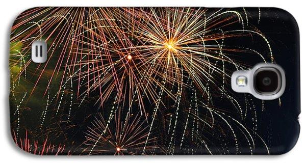 Pyrotechnics Galaxy S4 Cases - Fireworks - Royal Australian Navy Centenary 2 Galaxy S4 Case by Kaye Menner
