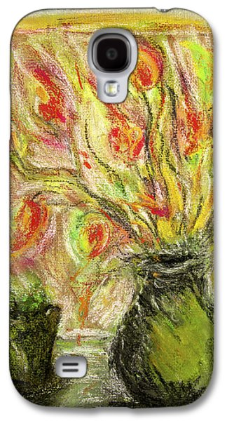Still Life Pastels Galaxy S4 Cases - Firery Window Galaxy S4 Case by Linde Townsend