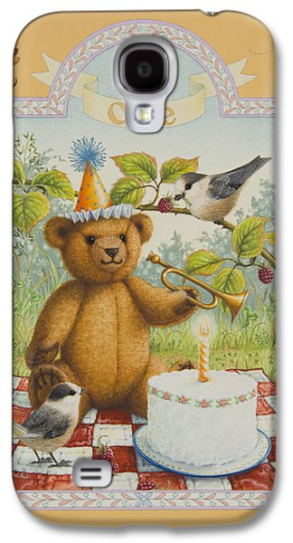 Party Birthday Party Galaxy S4 Cases - First Birthday Galaxy S4 Case by Lynn Bywaters