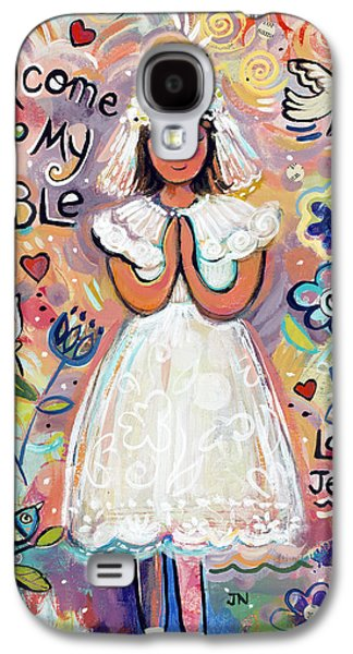 Religious Galaxy S4 Cases - First Communion Girl Galaxy S4 Case by Jen Norton