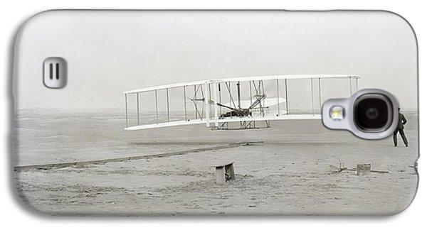 First Flight Captured On Glass Negative - 1903 Galaxy S4 Case by Daniel Hagerman