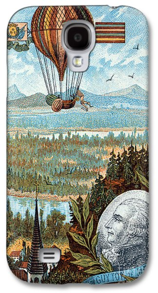 Personalities Photographs Galaxy S4 Cases - First Flight With Dirigible Balloon Galaxy S4 Case by Science Source