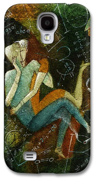 Education Paintings Galaxy S4 Cases - First Kiss Galaxy S4 Case by Leon Zernitsky