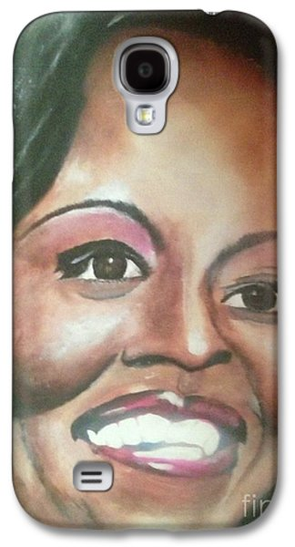 First Lady Paintings Galaxy S4 Cases - First Lady Galaxy S4 Case by Anthony Hurt
