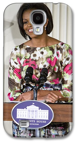 Michelle Obama Galaxy S4 Cases - First Lady Michelle Obama Galaxy S4 Case by JP Tripp