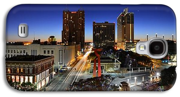 The Americas Galaxy S4 Cases - First Light on San Antonio Skyline - Texas Galaxy S4 Case by Silvio Ligutti