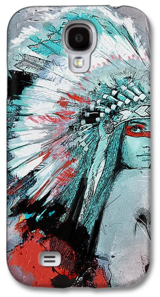 Aboriginal Art Paintings Galaxy S4 Cases - First Nations 005 C Galaxy S4 Case by Corporate Art Task Force