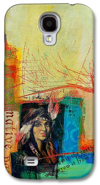 Aboriginal Art Paintings Galaxy S4 Cases - First Nations 10B Galaxy S4 Case by Corporate Art Task Force