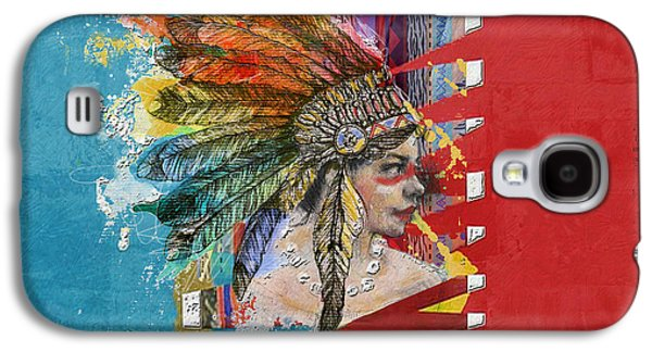 Aboriginal Art Paintings Galaxy S4 Cases - First Nations 31 Galaxy S4 Case by Corporate Art Task Force