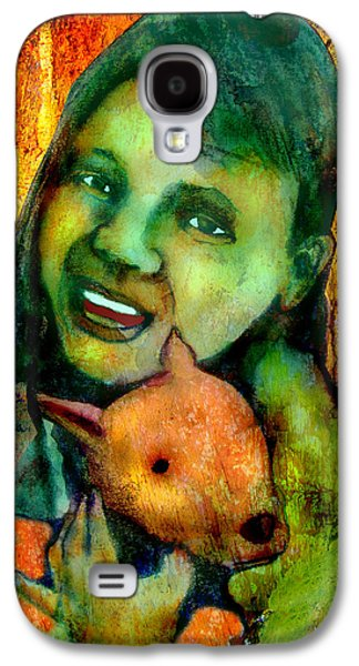 Puppies Digital Art Galaxy S4 Cases - First Puppy Galaxy S4 Case by James Huntley