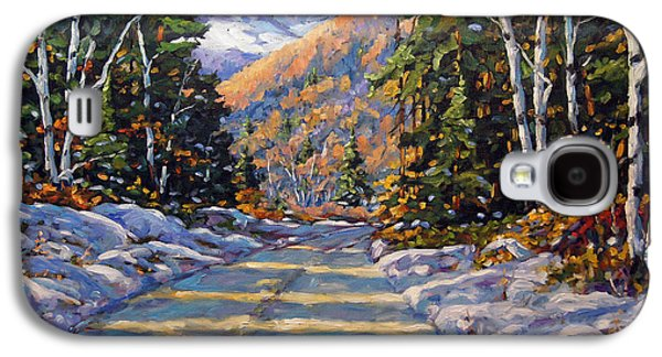 Quebec Streets Paintings Galaxy S4 Cases - First Snow by Prankearts Galaxy S4 Case by Richard T Pranke
