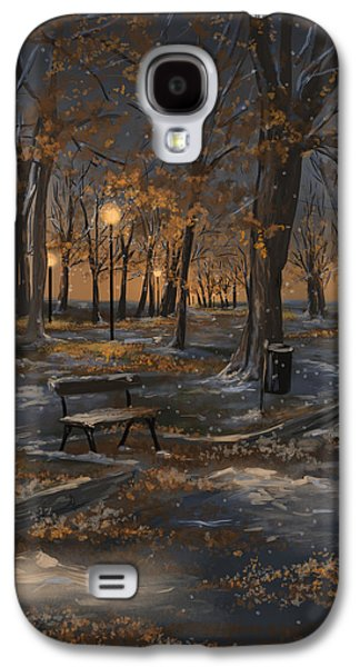 First Snowfall Galaxy S4 Case by Veronica Minozzi