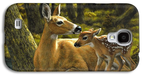 Deer Galaxy S4 Cases - First Spring - variation Galaxy S4 Case by Crista Forest