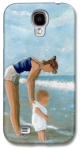 Midday Paintings Galaxy S4 Cases - First Timer Galaxy S4 Case by Karyn Robinson