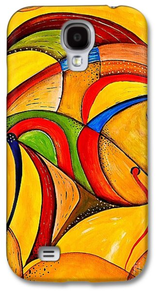 Recently Sold -  - Abstract Digital Paintings Galaxy S4 Cases - Fish 534-11-13 marucii Galaxy S4 Case by Marek Lutek