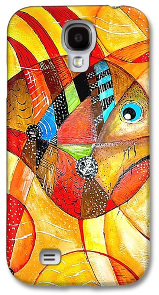 Recently Sold -  - Abstract Digital Paintings Galaxy S4 Cases - Fish 716-14 marucii Galaxy S4 Case by Marek Lutek