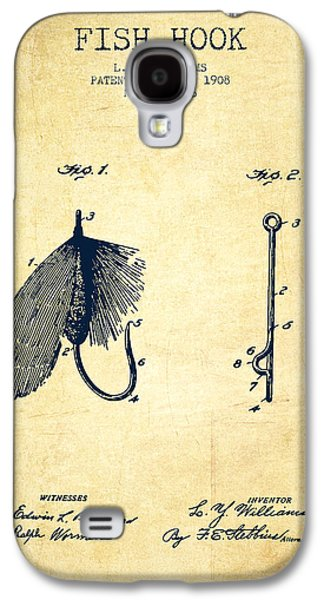 Reeling Galaxy S4 Cases - Fish Hook Patent from 1908- Vintage Galaxy S4 Case by Aged Pixel