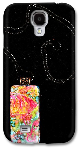 Warm Jewelry Galaxy S4 Cases - Fish In Focus Domino Pendant Galaxy S4 Case by Beverley Harper Tinsley